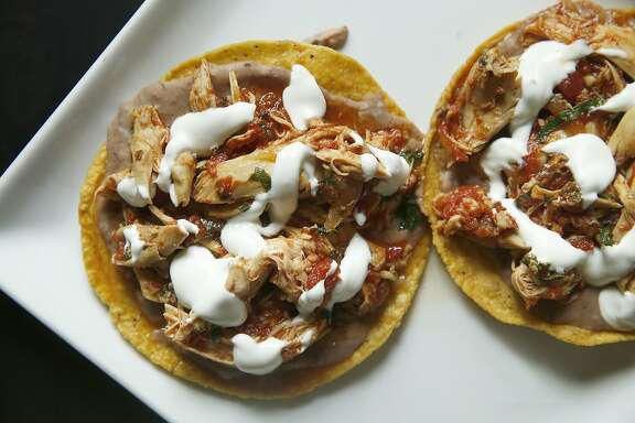 Chef Gonzalo Gonzalez Guzman of Nopalito makes chicken tostadas at home in San Francisco, California, on Monday, June 9, 2015.
