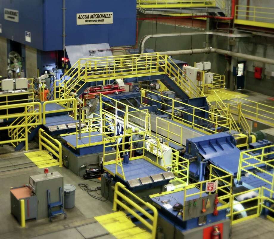 San Antonio's Micromill pilot plant operated by Alcoa is shown in a new release photo from the company. Alcoa has said it is looking at building a full-scale Micromill plant. Photo: Alcoa /San Antonio Express-News
