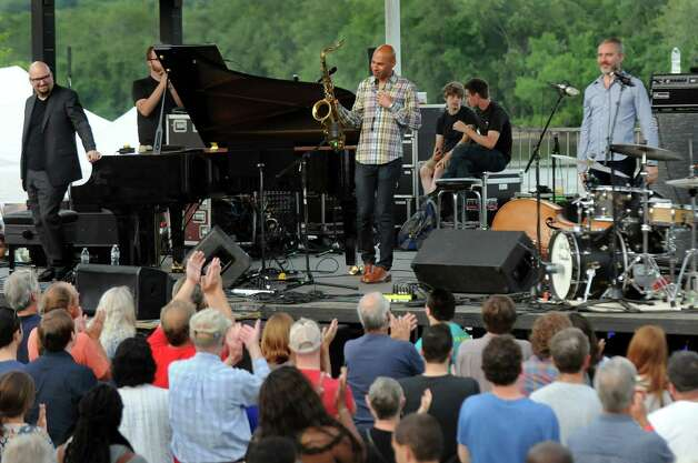 The Bad Plus Joshua Redman take their final bow during Alive at Five on Thursday, June 11, 2015, at Jennings Landing in Albany, N.Y. (Cindy Schultz / Times Union) Photo: Cindy Schultz / 00032223A