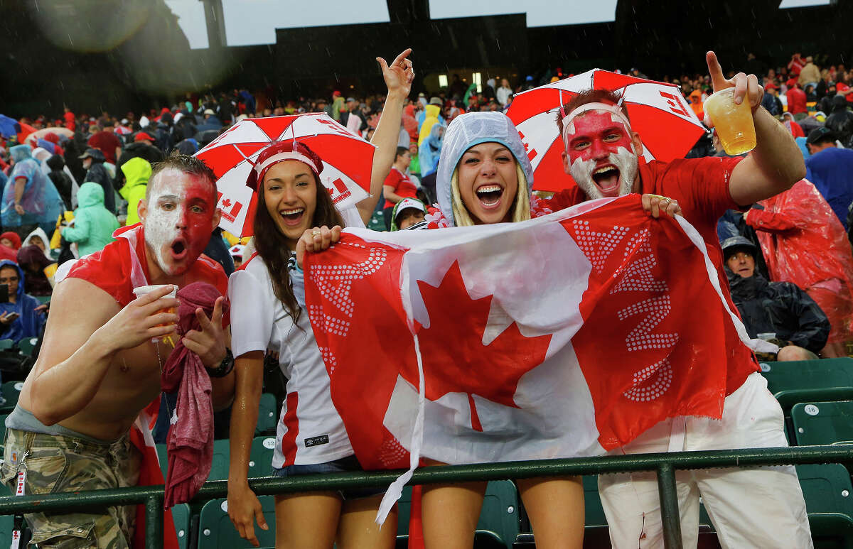 Canada has so much going for it. KEEP CLICKING to see how prime minister JustinTrudeau may be one of their greatest assets, at least when it comes to Twitter memes. Canadian fans cheer during a rain delay in their match against New Zealand during the FIFA Women's World Cup Canada Group A match between China and Netherlands at Commonwealth Stadium on June 11, 2015 in Edmonton, Alberta, Canada.