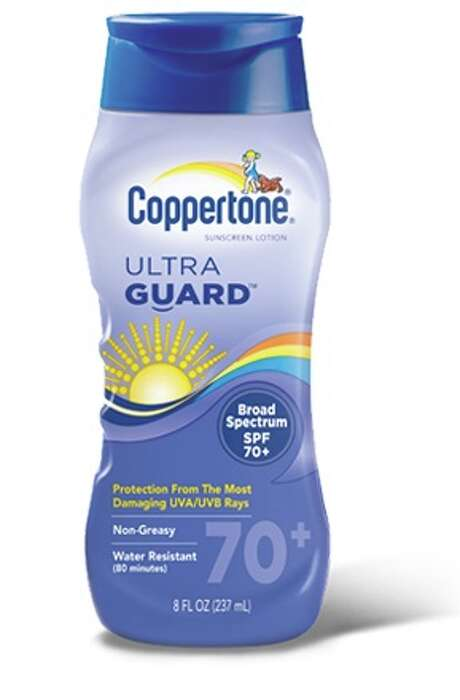 "Consumer Reports named Coppertone UltraGuard SPF 70+, $11, a ""best buy"" in its July 2015 issue and called it ""the only sunscreen that had a barely noticeable aroma."" Expert tip: No sunscreen blocks 100 percent of UV rays, and very high SPFs don't offer much more protection than SPFs of 30 or 50. Photo: Courtesy Photo"