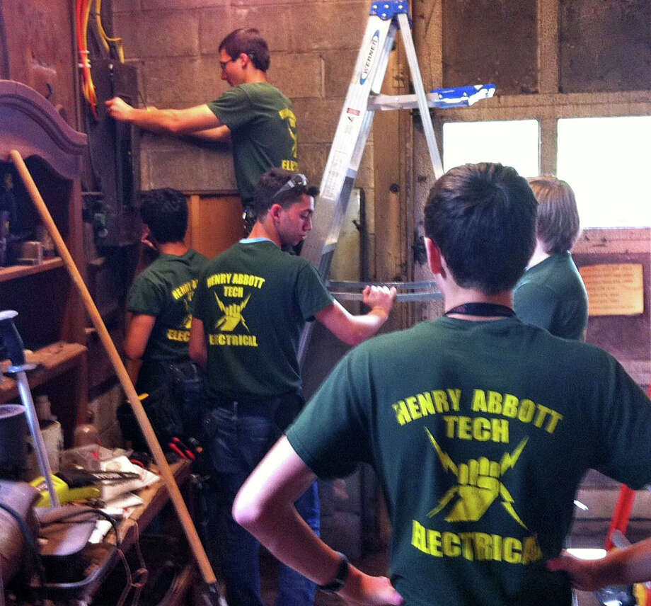 Abbott Tech students completing electrical work. Photo: / Contributed Photo