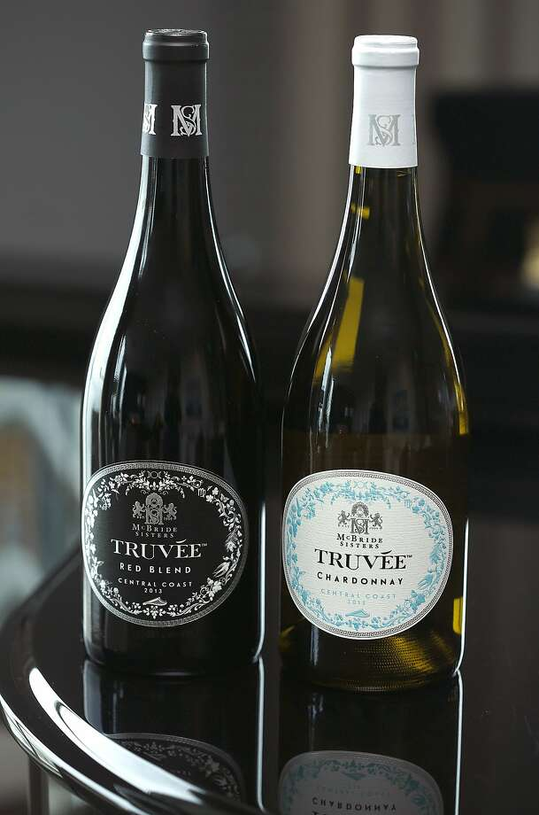 The McBride sisters show their new label Truvee Wines, varietals from California's Central Coast in San Francisco, California, on Wednesday, June 10, 2015. Photo: Liz Hafalia, The Chronicle