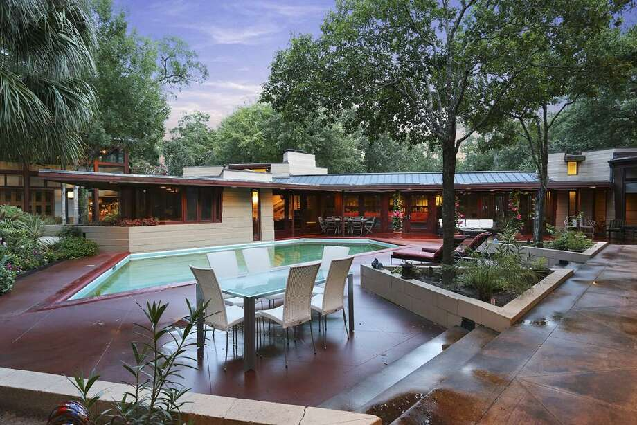 A home designed by famed, influential architect Frank Lloyd Wright is back on the market here in Houston. Photo: HAR / TK Images, Bill Krampitz