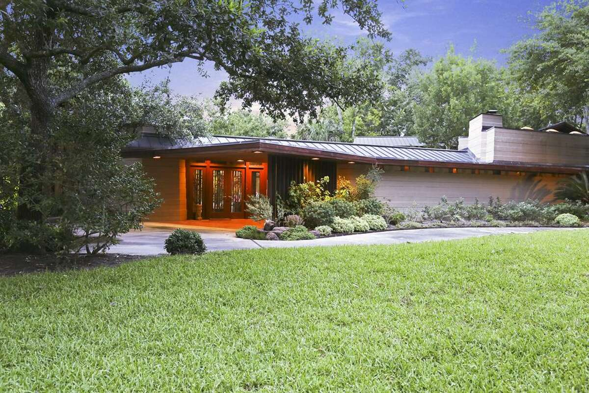 A home designed by famed, influential architect Frank Lloyd Wright is back on the market here in Houston.