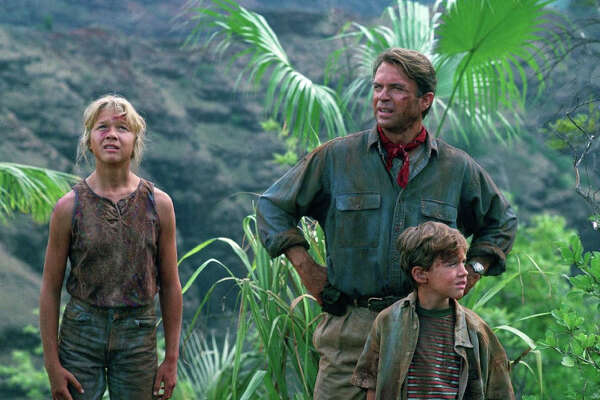 """The lush, relatively accessible tropical jungle of Hawaii provides a distinctive backdrop to the """"Jurassic Park"""" series, which debuted in 1993. Some of the filming was interrupted by Hurricane Iniki's arrival on Kauai on Sept. 11, 1992, but all of the subsequent sequels have returned to shoot scenes in the islands."""