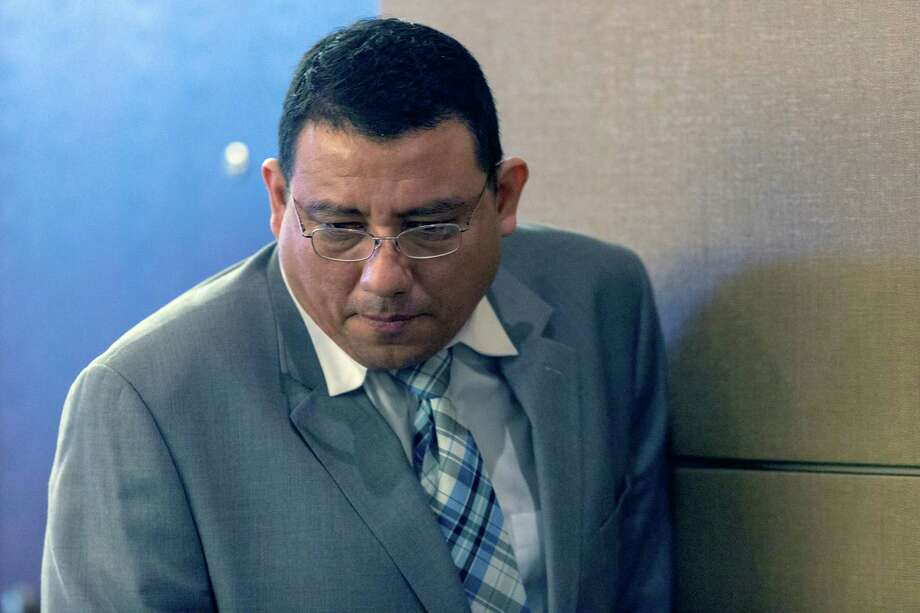 Isidro Espinosa-Solis enters the 175th state District Court Thursday afternoon June 11, 2015, after a break in his trial in the hit-and-run death of Tatyana Babineaux, a 9-year-old girl killed while walking to her elementary school. Photo: William Luther /San Antonio Express-News / © 2015 San Antonio Express-News