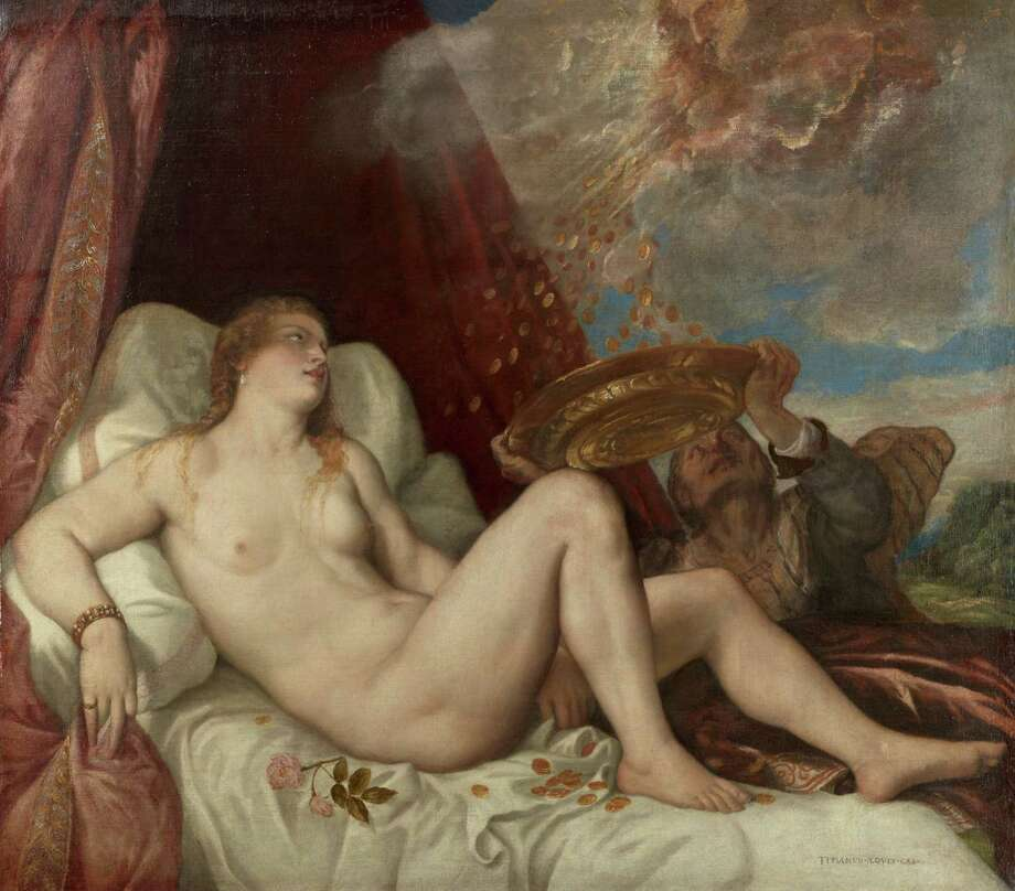 """Among the masterpiece paintings on view in """"Habsburg Splendor"""" at the MFAH through Sept. 13: Titian and workshop, Danae, 1554é±65, oil on canvas, Kunsthistorisches Museum, Vienna. Photo: Kunsthistorisches Museum, Vienna"""
