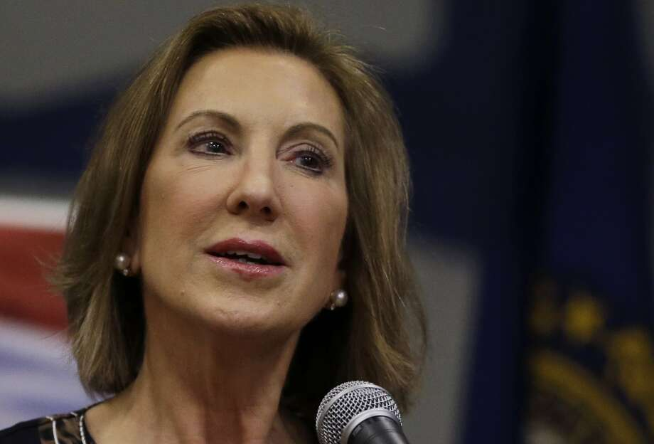 Republican presidential candidate, former Hewlett-Packard CEO Carly Fiorina speaks at a campaign event at New Boston Central School, Tuesday, June 9, 2015, in New Boston, N.H. (AP Photo/Elise Amendola) Photo: Elise Amendola, Associated Press