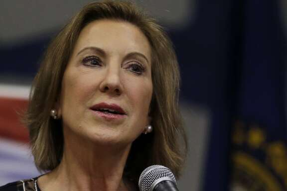 Republican presidential candidate, former Hewlett-Packard CEO Carly Fiorina speaks at a campaign event at New Boston Central School, Tuesday, June 9, 2015, in New Boston, N.H. (AP Photo/Elise Amendola)