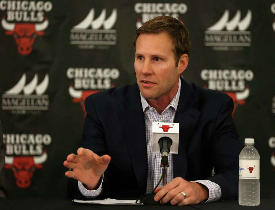 New Chicago Bulls coach Fred Hoiberg speaks at a press conference at the Advocate Center on June 2, 2015 in Chicago, Illinois. Photo: Jonathan Daniel /Getty Images / 2015 Getty Images
