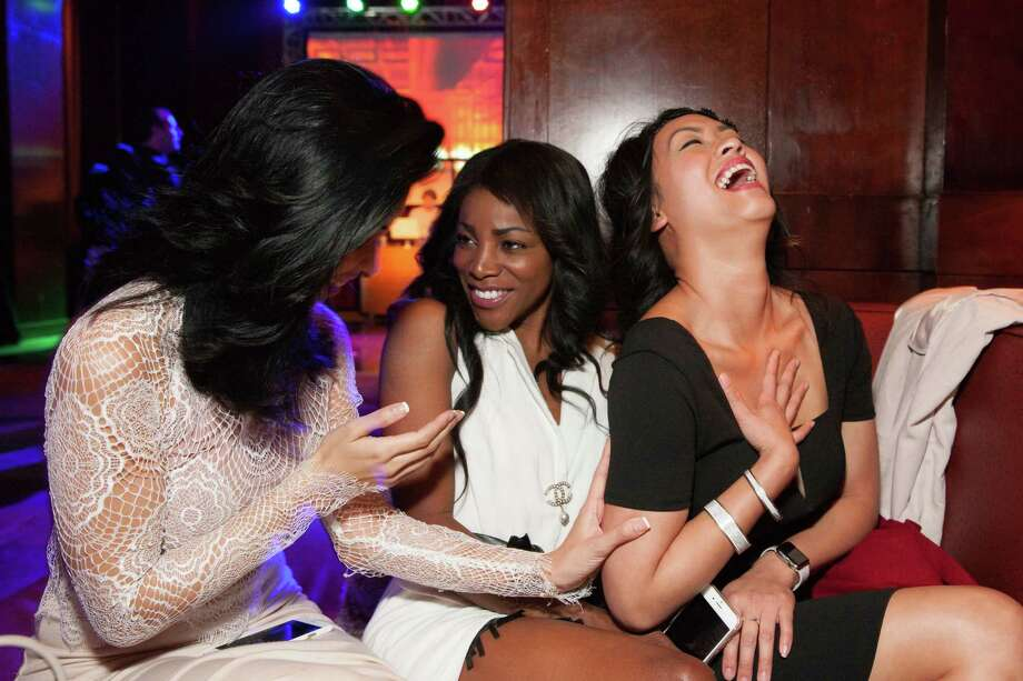 Carlie Hammell, Nadine Oluwole and Dana Ngo at the Clift hotel's centennial birthday celebration on June 4, 2015 Photo: Drew Altizer Photography / © 2015 Drew Altizer Photography