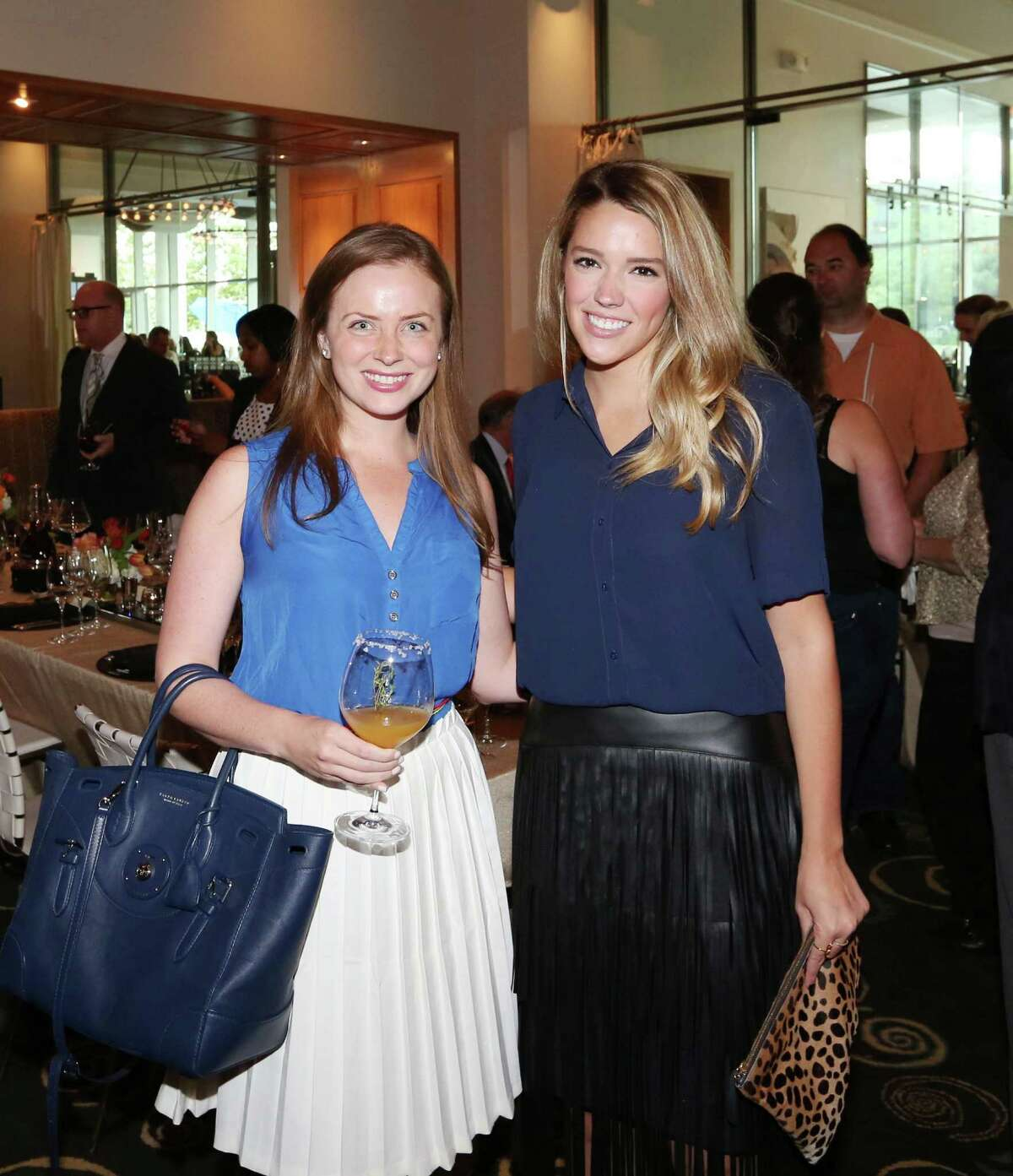 Anne Lee Phillips and Anna Schuster at a five-course Grand Marnier paring at Caracol.
