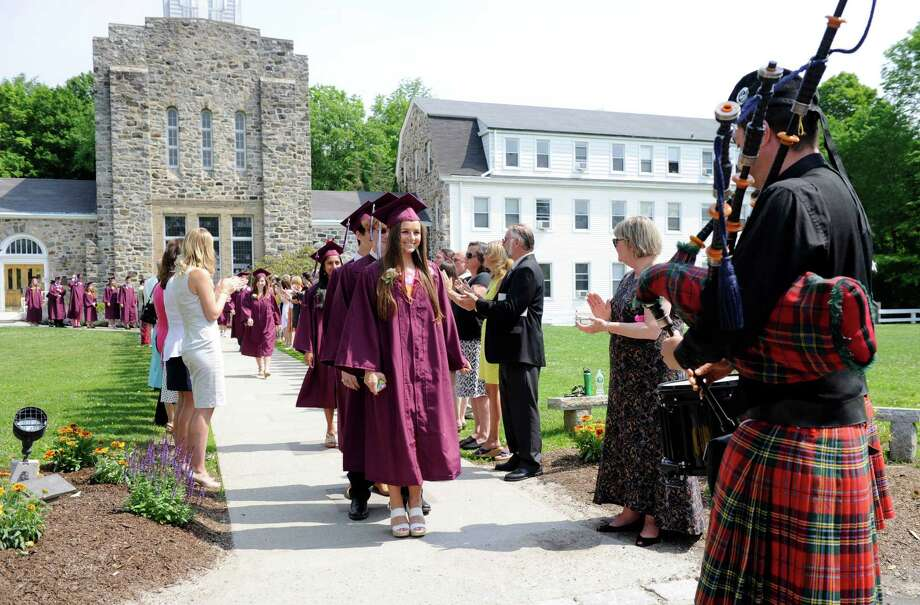 Wooster School in Danbury, Conn. held its commencement service Friday, June 12. Photo: Carol Kaliff, Hearst Connecticut Media / The News-Times