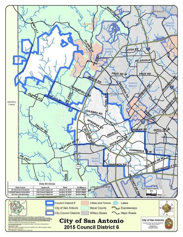 San Antonio District 6 Photo: Courtesy City Of San Antonio