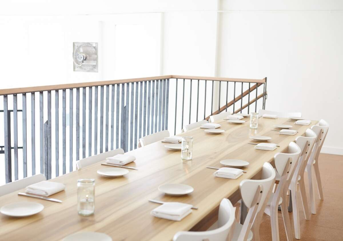 The upstairs communal table at Lord Stanley.