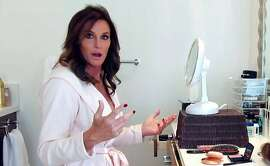 "This 2015 image provided by courtesy of E! shows Caitlyn Jenner in the first official promotional trailer for the new documentary series, ""I Am Cait,"" in Southern California. The show premieres Sunday, July 26, 2015, at 9 p.m. PDT on E! (E! via AP)"
