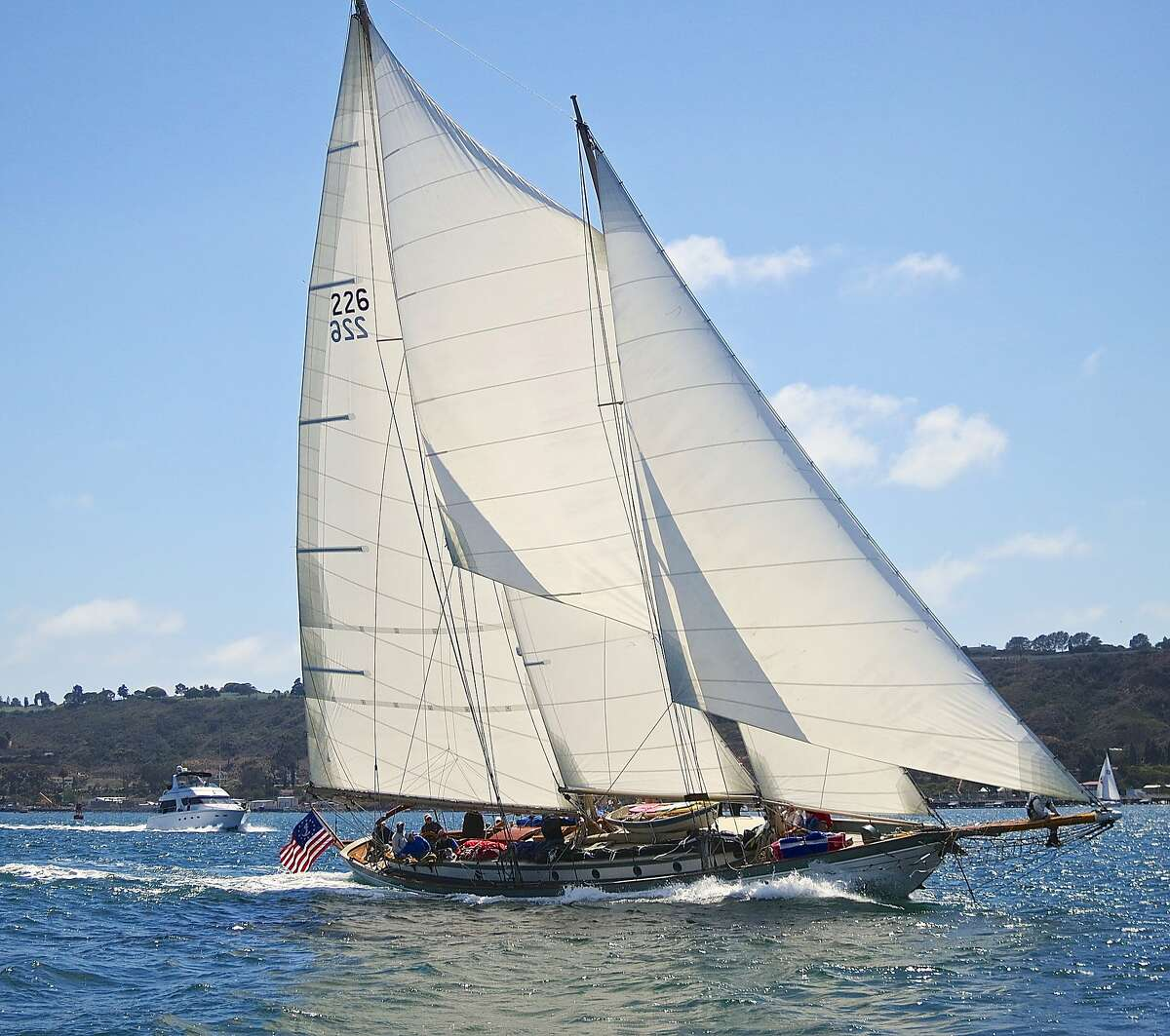 On June 13, 2015 the sailing schooner Martha will be participate in the 8th Annual Great San Francisco Schooner Race. The Martha is in the bay area for a series of races and plans to sail in the Transpacific Yacht Race that traveled from California to Hawaii in July.