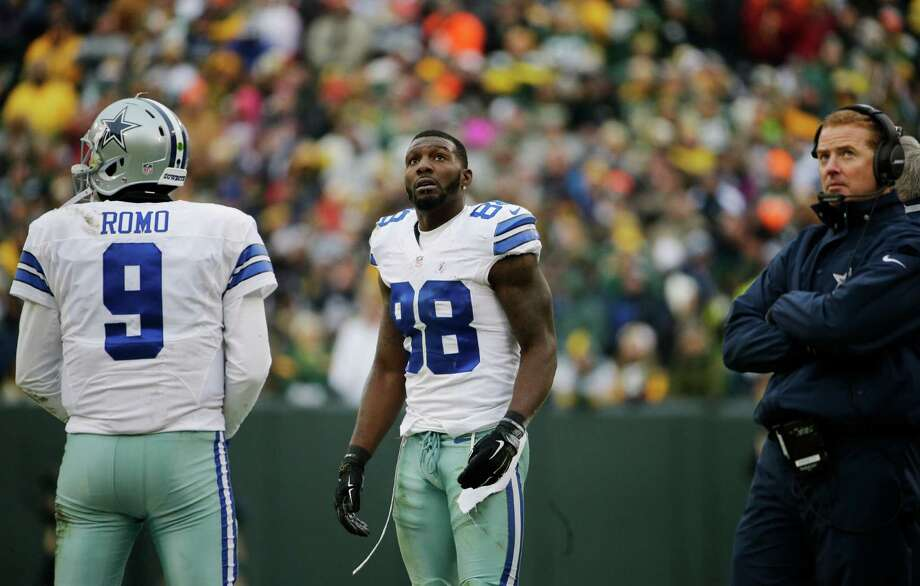 Dallas Cowboys wide receiver Dez Bryant (88) watches the scoreboard as officials review a catch by Bryant during the second half of an NFL divisional playoff game on Jan. 11, 2015, in Green Bay, Wis. The call was reversed. Photo: Nam Y. Huh /Associated Press / AP