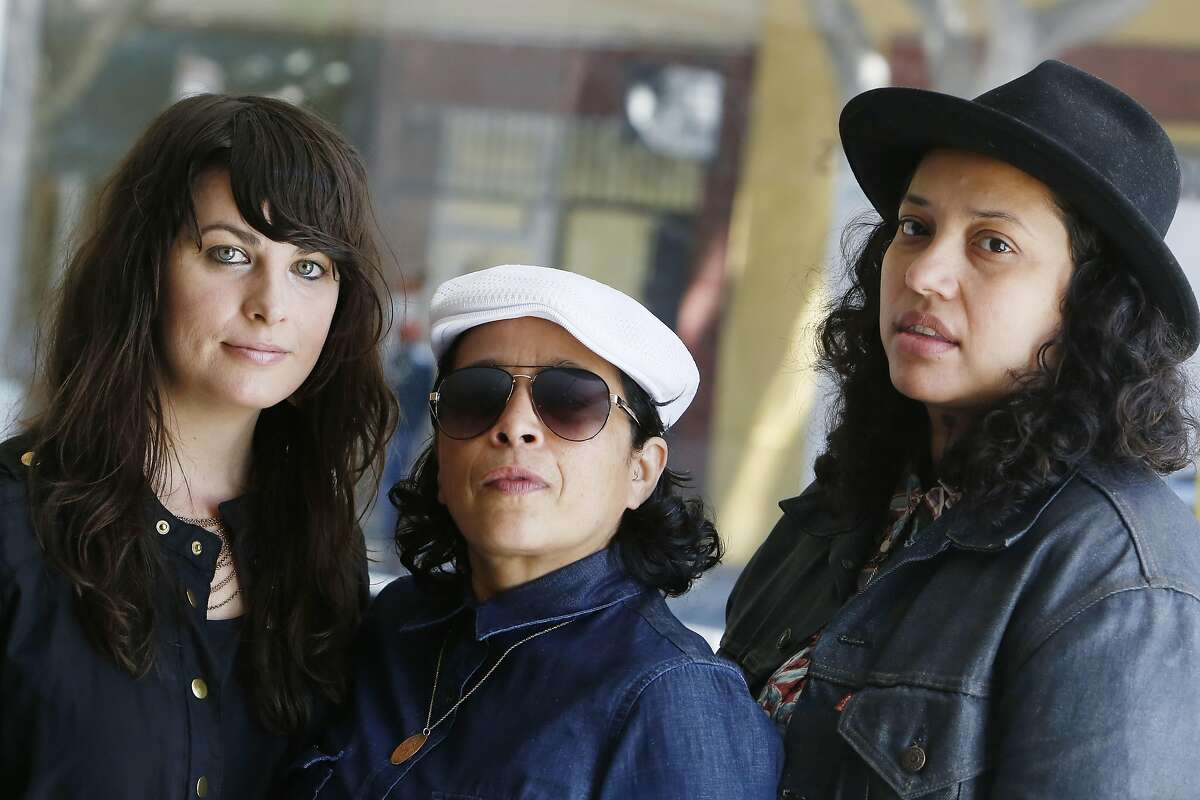 Kari Orvik (l to r), Vero Majano and Amy Martinez pose for a portrait at Studio 24 on Friday, June 12, 2015 in San Francisco, Calif.