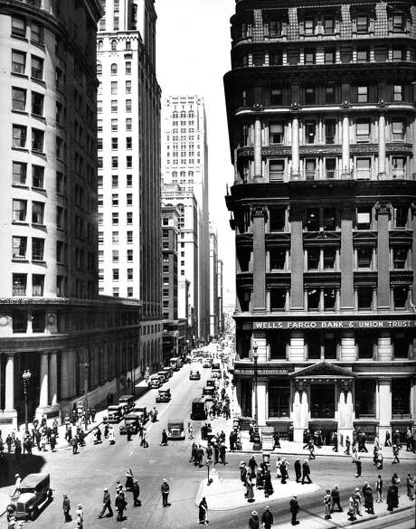 1938 photo of the Wells Fargo building in the Financial District. Photo: Courtesy Wells Fargo Bank / Wells Fargo Bank / ONLINE_CHECK