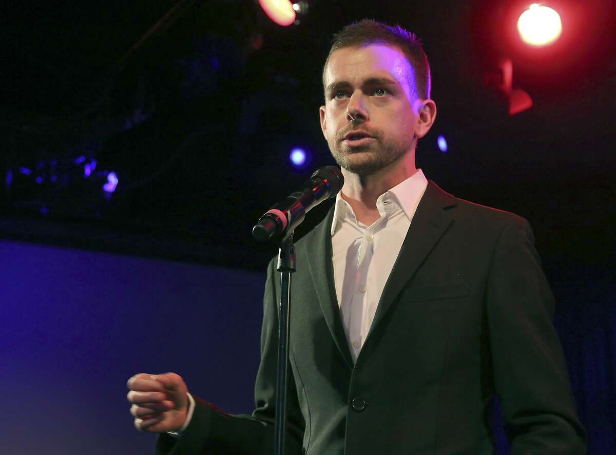 FILE - In this April 24, 2013 file photo, Twitter co-founder and Chairman Jack Dorsey speaks at a campaign fundraiser for Democratic Candidate for Public Advocate Reshma Saujani, in New York. Twitter CEO Dick Costolo will step down after almost five years, the company and Costolo announced Thursday, June 11, 2015. The San Francisco company says Dorsey, 38, will be its interim CEO while it looks for a replacement. (AP Photo/Mary Altaffer, File)