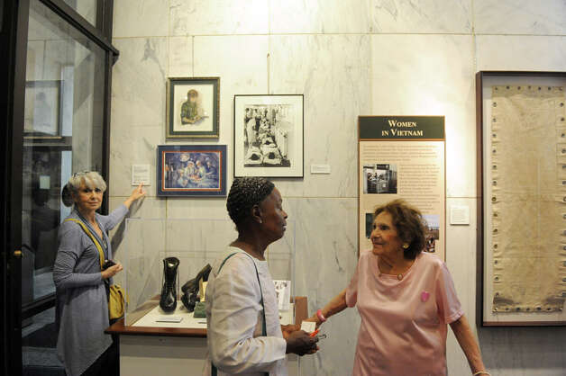 A recognition of New York Stateís women veterans and unveiling of art and artifacts in the New York State Vietnam Memorial Gallery that illustrate women veteransí contributions during the Vietnam War at the Empire State Plaza on Friday June 12, 2015 in Albany , N.Y.  (Michael P. Farrell/Times Union) Photo: Michael P. Farrell, Albany Times Union / 00032270A