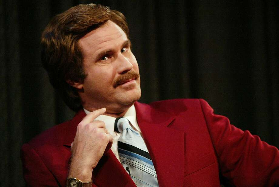 "Actor Will Ferrell aka Ron Burgundy participates in Q&A after a special screening of the film ""Anchorman: The Legend of Ron Burgundy"" at the Museum of Television and Radio July 7, 2004 in New York City. Photo: Evan Agostini, Getty Images"