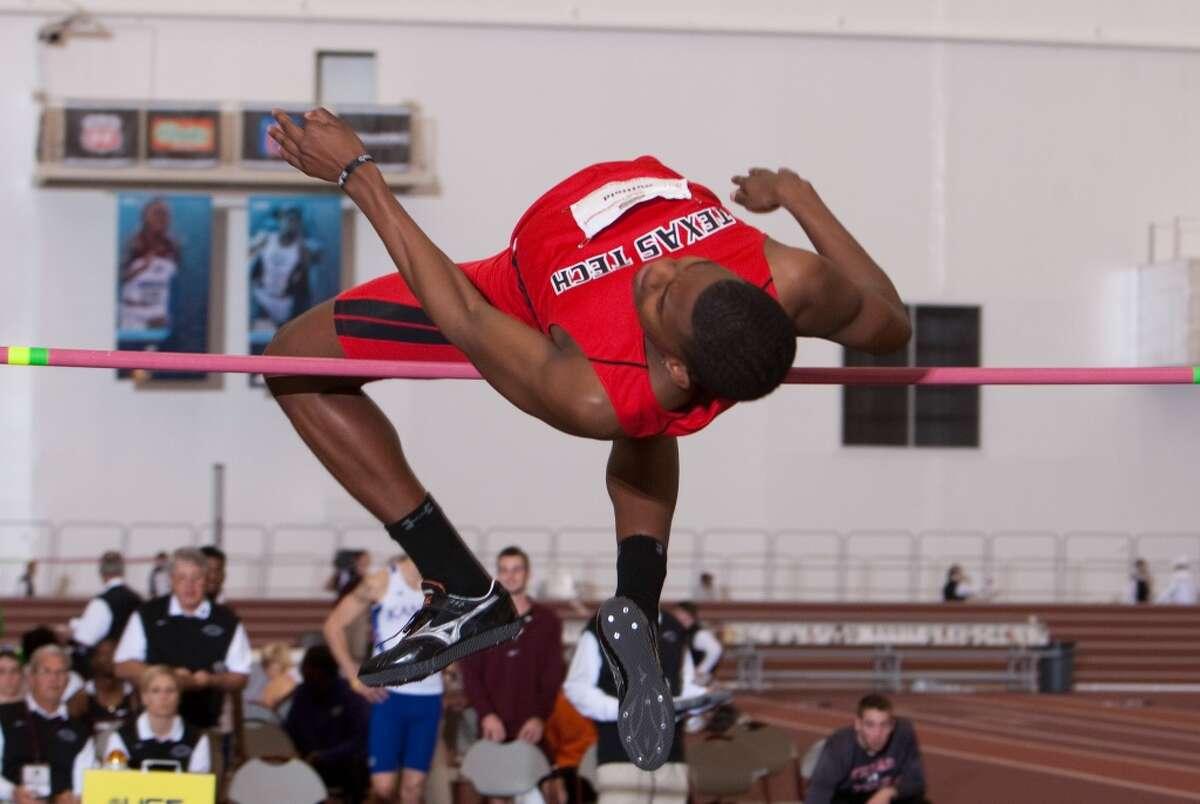 Texas Tech high jumper JaCorian Duffield, 2012.