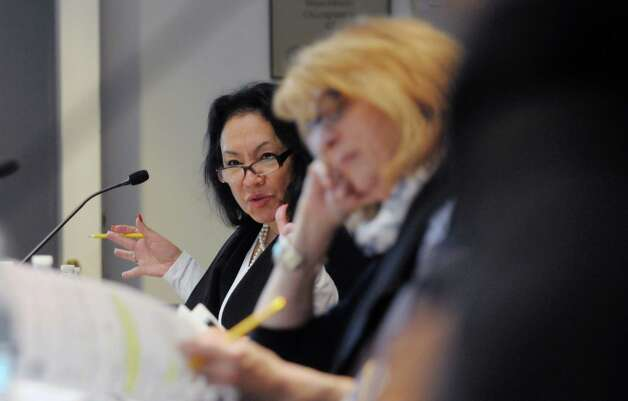 Betty Rosa, New York State Board of Regents member addresses her fellow board members during a meeting on Monday, Oct. 20, 2014, at the State Education building in Albany, N.Y.  (Paul Buckowski / Times Union archive) Photo: Paul Buckowski / 00029096A