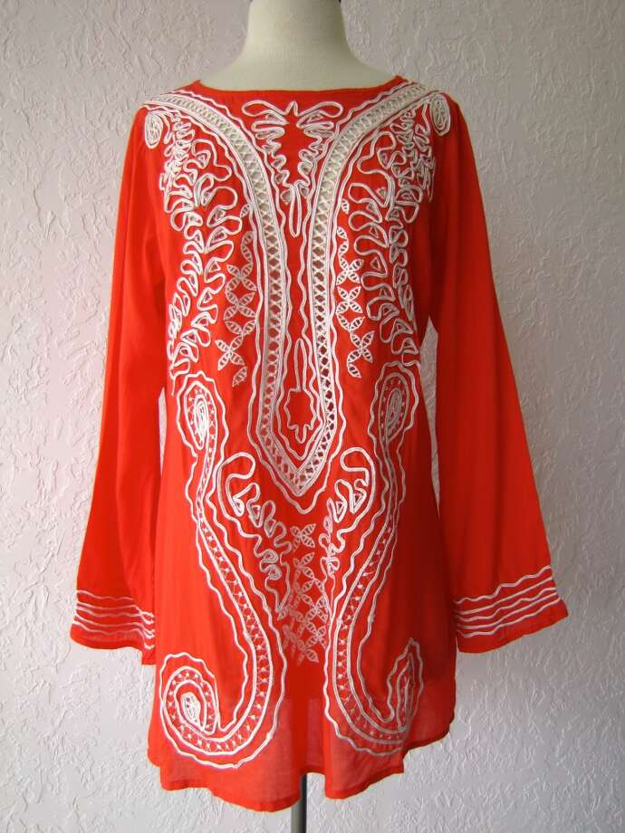 Embellished peekaboo tunic, $88, Bella Bella, Beaumont Photo: Larena Busceme/cat5