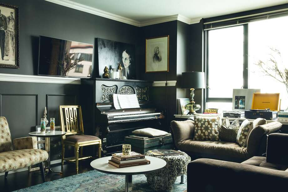 The 1910 piano is the focus of Lizette Bruckstein's living room. Photo: Aubrie Pick, Special To The Chronicle