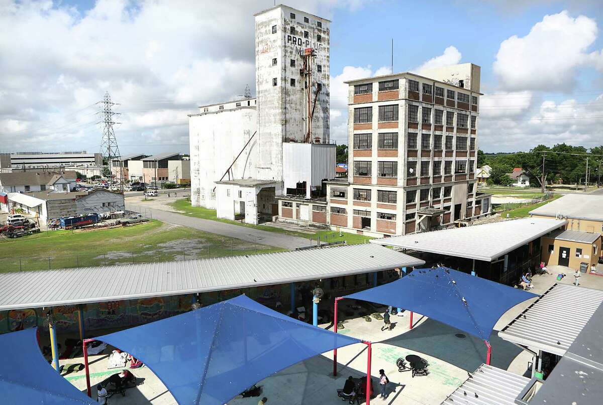The old Pro-Plus Mills can be seen just west of the Haven campus, on June 3. Improvements are slated for the courtyard. Should an enhanced city police presence be added as well. It's the city's call.
