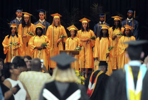 Bishop Maginn High School held its 35th Commencement Exercise on Saturday June 13, 2015 in Albany , N.Y.  This will be the last graduation at the school's current location. It will relocate to a smaller space in the fall. Bishop Edward B. Scharfenberger will be on hand for the ceremony. He ultimately made the call to move. The school has about 138 students in a building designed for 1,200. The new location at Park Avenue  a former charter school that is half that size. (Michael P. Farrell/Times Union) Photo: Michael P. Farrell / 00032170A