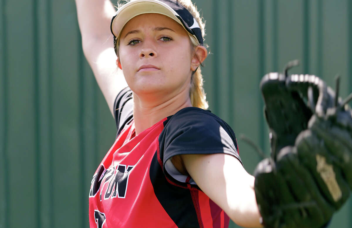 New Braunfels Canyon's Brooke Vestal poses for the Express-News All-Area softball team photo sesssion on June 3, 2015.