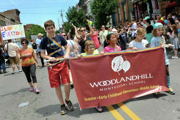 Woodland Hill Montessori School children take part in the Capital PRIDE Parade on Saturday, June 13, 2015, in Albany, N.Y. (Cindy Schultz / Times Union) Photo: Cindy Schultz / 00032232A