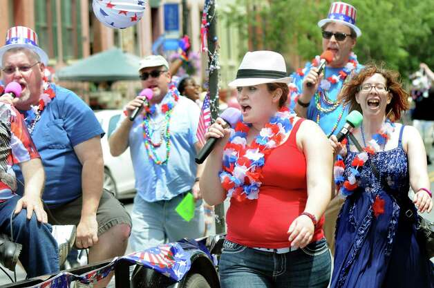 Capital Pride Singers demonstrate their talents during the Capital PRIDE Parade on Saturday, June 13, 2015, in Albany, N.Y. (Cindy Schultz / Times Union) Photo: Cindy Schultz / 00032232A