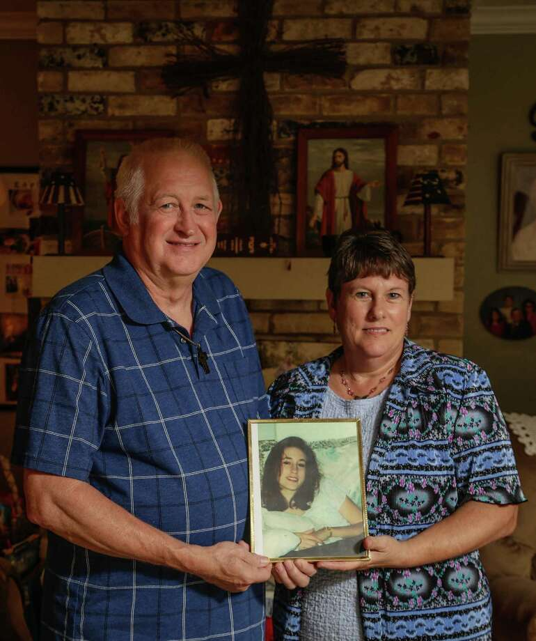Charles and Sandy Trotter, parents of 19-year-old college student who was raped and murdered in1999. Larry Ray Swearingen was convicted in July 2000 of the capital murder of Melissa Trotter. Swearingen has been sitting on death row, during constant appeals, and battles with Innocence project. The latest DNA question has led to new law in Austin on subject. Meanwhile the family of the victim wait for justice.  (Billy Smith II / Houston Chronicle) Photo: Billy Smith II / Chronicle / Houston Chronicle