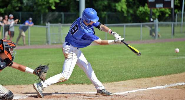 Saratoga's #18 Jack Herman at bat during their Class AA championship game against Mamaroneck Saturday June 13, 2015 in Endicott, NY.   (John Carl D'Annibale / Times Union) Photo: John Carl D'Annibale / 00032266A