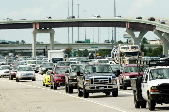 Commuters from The Woodlands area travel south on I-45 on Friday, June 12, 2015, in The Woodlands.