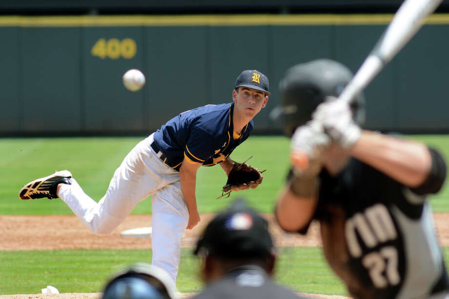 Cy Ranch senior pitcher Brent Herbert had his best stuff in Saturday's 6A state title game, limiting Arlington Martin to five hits over five innings in the Mustangs' 3-0 win. He was named the game's Most Valuable Player. Photo: Jerry Baker, Freelance