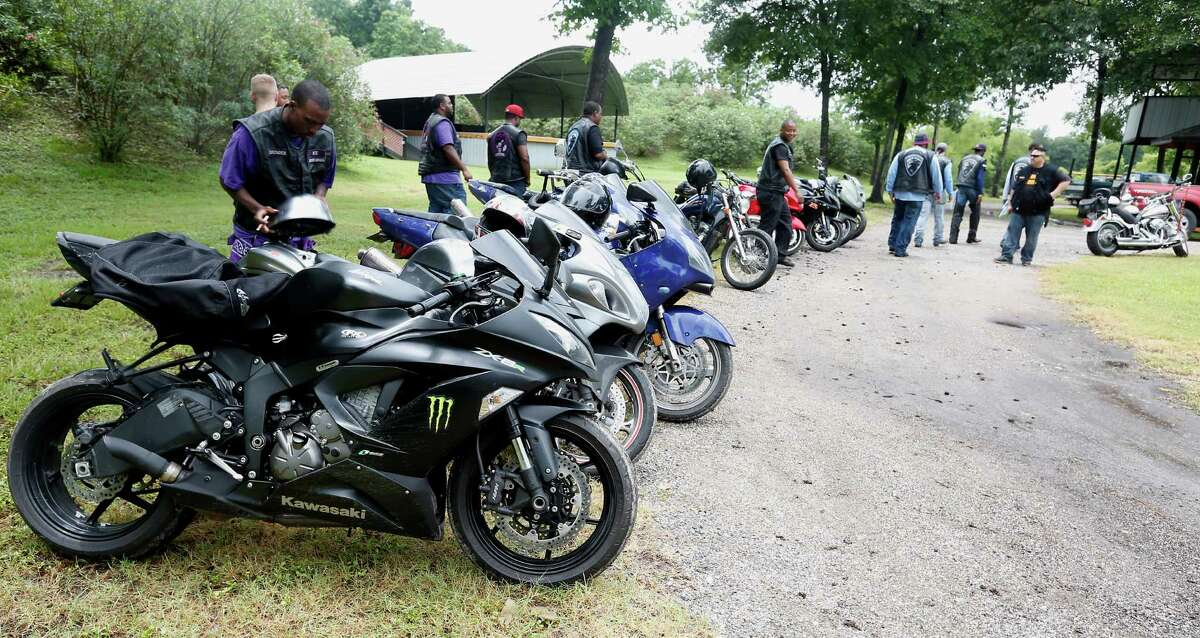 Motorcycle enthusiasts gather during the Confederation of Clubs and Independents Region 3 meeting at the Hawg Stop Bar and Grill on Saturday. They worried the recent Waco incident that ended with nine dead and 175 arrested would shine a negative light on bikers.