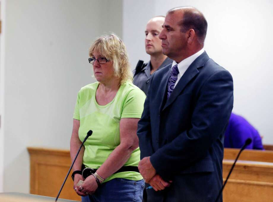 Joyce Mitchell is arraigned in City Court on Friday in Plattsburgh, N.Y. Mitchell is accused of helping two convicted killers escape from prison. Photo: Mike Groll, POOL / Pool, AP