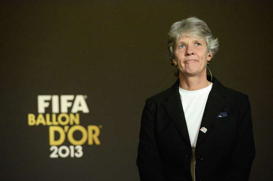 Nominee for the 2013 FIFA coah of the Year, Swedish national women football team head coach Pia Sundhage, attends a press conference ahead of Ballon d'Or award ceremony, on January 13, 2014 at the Kongresshaus in Zurich. AFP PHOTO / OLIVIER MORIN        (Photo credit should read OLIVIER MORIN/AFP/Getty Images) Photo: OLIVIER MORIN, Staff / AFP