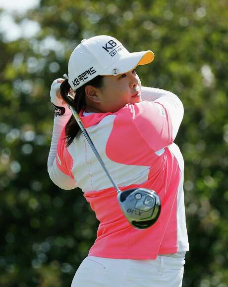 Inbee Park shot a 66 Saturday to move ahead of fellow South Korea Sei Yong Kim by two shots at the Women's PGA. Photo: Scott Halleran, Staff / 2015 Getty Images