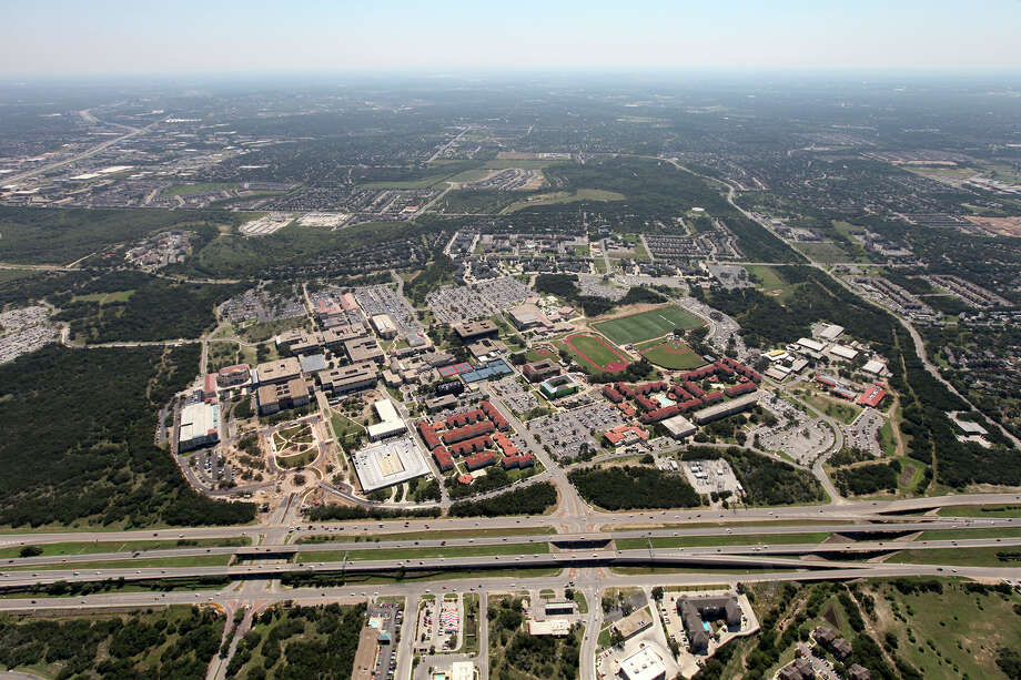 An aerial view of the main campus of the University of Texas at San Antonio in 2012. Photo: Courtesy UTSA