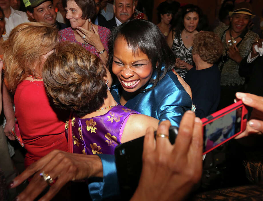 Mayor Ivy Taylor celebrates with supporters at a watch party on election night. Readers comment on her victory. Photo: Edward A. Ornelas /San Antonio Express-News / © 2015 San Antonio Express-News