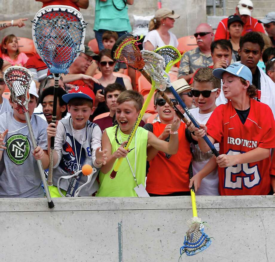 Young fans made up a sizable portion of the crowd of 10,084 at BBVA Compass Stadium for Saturday night's Major League Lacrosse showcase. Photo: James Nielsen, Staff / © 2015  Houston Chronicle