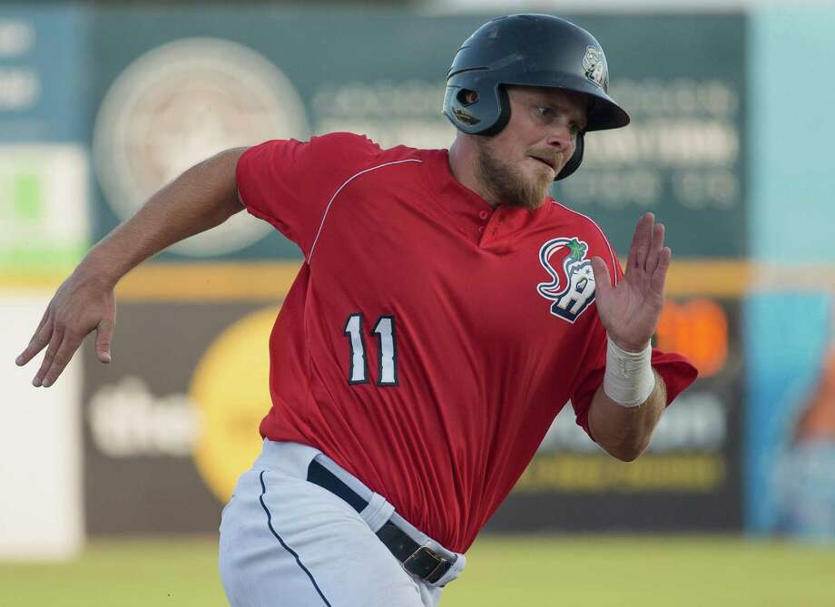 San Antonio Missions' Griff Erickson runs to third base during a Texas League baseball game against the Corpus Christi Hooks, Saturday, June 13, 2015, at Nelson Wolff Stadium in San Antonio. (Darren Abate/For the Express-News) Photo: Darren Abate, FRE / Darren Abate/Express-News / San Antonio Express-News