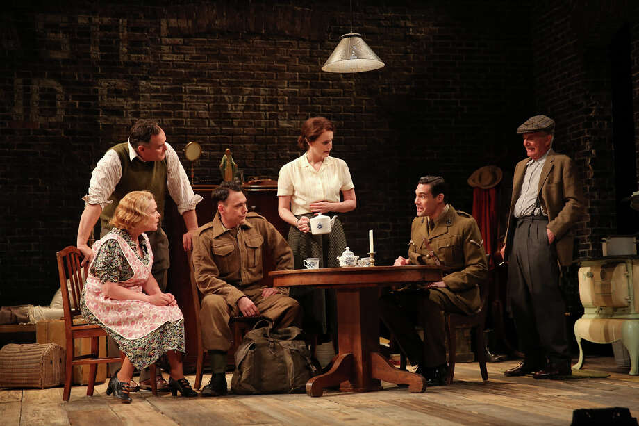 "The cast of ""And a Nightingale Sang"" at the Westport Country Playhouse, from left, Deirdre Madigan, Sean Cullen, John Skelley, Brenda Meaney, Matthew Greer and Richard Kline. The drama plays through June 27. Photo: Contributed Photo / Contributed Photo / Westport News"